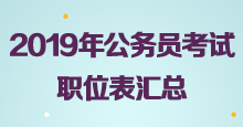 <strong>2019年多省联考职位表汇总</strong>