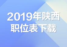 2019年陕西公务员考试职位表下载(已发布)