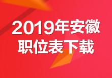 2019年安徽公务员考试职位表下载(已发布)