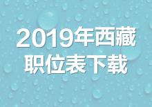 2019年西藏公务员考试职位表下载(已发布)